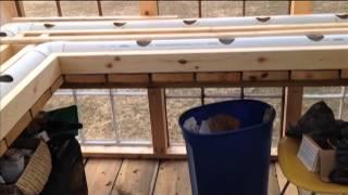 getlinkyoutube.com-Winter Rain Gutter Grow System Greenhouse with Heated Water Build