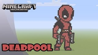 getlinkyoutube.com-Minecraft: Pixel Art Tutorial and Showcase: DEADPOOL (Marvel Comics)