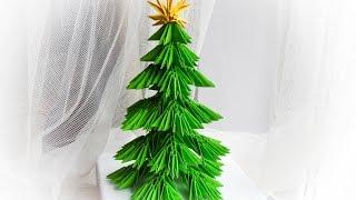 getlinkyoutube.com-choinka origami modułowe / how to make a paper christmas tree tutorial  DIY