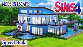 getlinkyoutube.com-Sims 4 House Build: Modern Escape Family Home With Pool & Basement