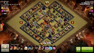 getlinkyoutube.com-Clash of Clans TH10 vs TH10 Healer, Lava Hound & Balloon (Queen Walk) Clan War 3 Star Attack