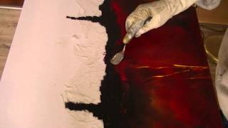 getlinkyoutube.com-Abstrakte Malerei, Grillkohle, Painting abstract with charcoal