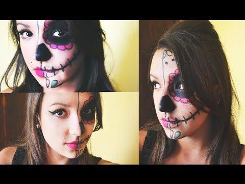 Halloween Makeup: Caveira Mexicana+Amy Winehouse!