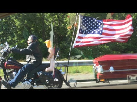 Biker Dude With Casket, Blow Up Doll and American Flag | Song A Day #2002