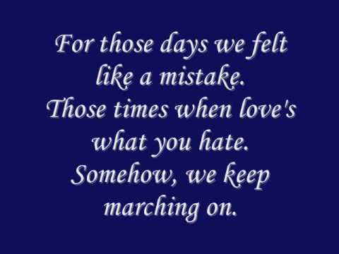 One Republic - Marchin On with Lyrics