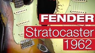 getlinkyoutube.com-Fender Custom Shop 1962 Stratocaster HVREL CHOC 3TS & VWH Review von session