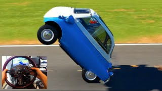 getlinkyoutube.com-Forza 6 GoPro 1957 BMW Isetta 300 Wheelie + Three Wheel Sliding!