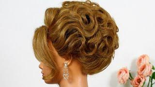 getlinkyoutube.com-Arabic wedding hairstyle. Updo for long hair