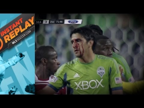 Instant Replay: Blood Red in Seattle, Headbutt in Houston