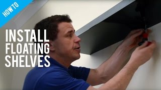 getlinkyoutube.com-How To Hang Floating Shelves On A Stud Wall
