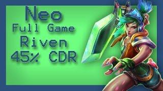 getlinkyoutube.com-League of Legends 5.23 Riven vs Gangplank top 45% CDR