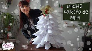getlinkyoutube.com-Arbol Navideñocon Hojas Blancas :: Chuladas Creativas