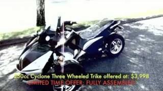 getlinkyoutube.com-3 Wheel 250cc cyclone 2012 Trike Motorcycle $4699.99 Assembled