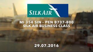 getlinkyoutube.com-Silk Air MI 354 SIN-PEN B737-800 Business Class Flight Report