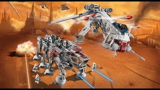"LEGO Star Wars 10195 ""Republic Dropship with AT-OT Walker"" Review (deutsch/german)"