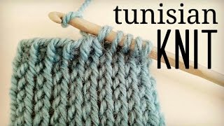 getlinkyoutube.com-How to crochet Tunisian Knit Stitch (TKS) | tunisian crochet tutorial ♥ CROCHET LOVERS