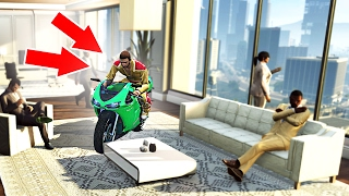getlinkyoutube.com-DRIVING INSIDE OFFICE BUILDINGS! (GTA 5 Funny Moments)