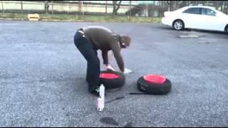 كيفية نفخ إطار السيارة في دقيقة 1  بطريقة سهلة
