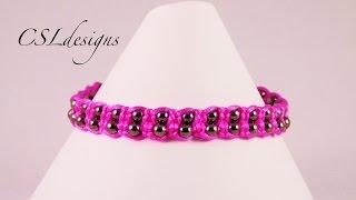 getlinkyoutube.com-Double macrame bracelet with beads