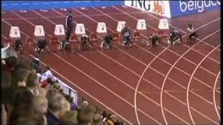 getlinkyoutube.com-Usain Bolt Asafa Powell 100m Golden League Brussels 2008
