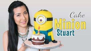 getlinkyoutube.com-Tarta Minion Stuart - tutorial paso a paso | fondant cake | Quiero Cupcakes!