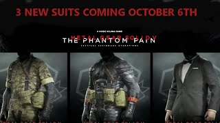 getlinkyoutube.com-MGSV: TPP - New Outfits Coming Oct 6th - MGS3 Fatigues, Sneaking Suit & Tuxedo