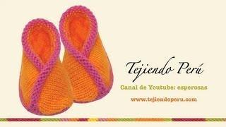 getlinkyoutube.com-Zapatitos kimono (con bordes cruzados) tejidos en dos agujas o palitos para bebés