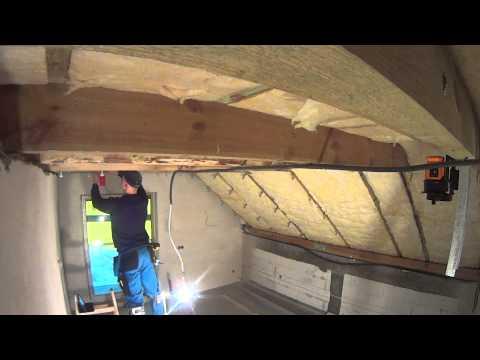 Ocieplenie dachu i zabudowa g/k poddasza cz.5 sufit do jętek.