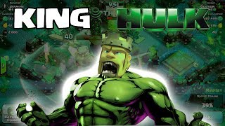 getlinkyoutube.com-Clash of clans - King Hulk (w/ Smashing gameplay)