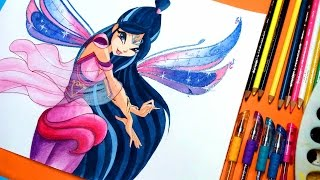 getlinkyoutube.com-✿ how to draw winx club musa bloomix✿speedpainting