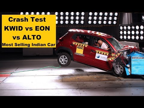 Crash ALTO vs KWID vs EON Test Safety Raing || Most Selling cars in India||
