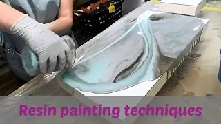 Resin Painting techniques