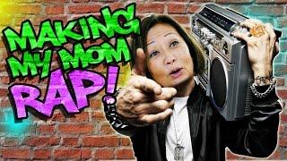 Making my Mom Rap like Eminem! nigahiga  nigahiga