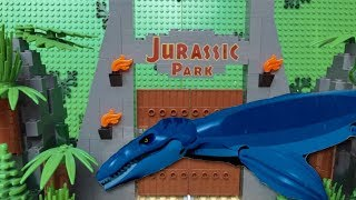 getlinkyoutube.com-Lego Jurassic World - MOSASAURUS MOVIE!
