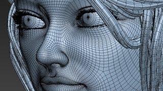 getlinkyoutube.com-Girl Modeling 3D (time lapse)