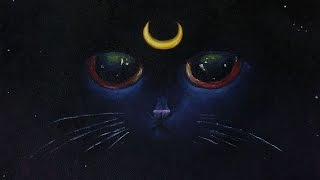 getlinkyoutube.com-Luna the Night Kitten Painting - Speed Art
