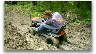 getlinkyoutube.com-Off Road Lawn Mower Jamboree Pt.3 Deep Mud Run
