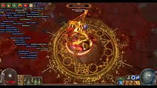 getlinkyoutube.com-Path Of Exile:Righteous Fire MF 522%IIR/90%IIQ Solo 30 dominus runs test
