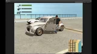 getlinkyoutube.com-Unity3D Edy's Vehicle Physics DRIV3R 2CV unfinished prototype test