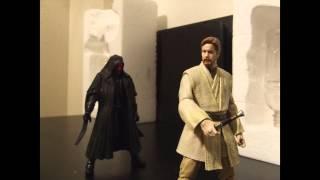 getlinkyoutube.com-Star Wars - Black Series Obi-Wan vs Darth Maul (stop motion)