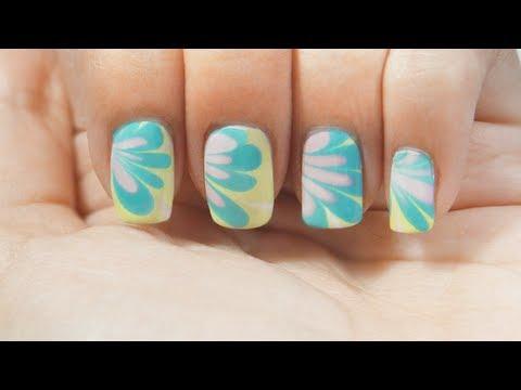 Uñas marmoleado al agua TRUCOS water marble nails tips manicura marmol
