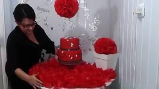 getlinkyoutube.com-Aula 12 - Como fazer flores de papel de seda (bola) - Artesanato