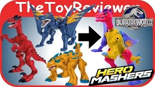 getlinkyoutube.com-Jurassic World Hero Mashers Unboxing Review by TheToyReviewer