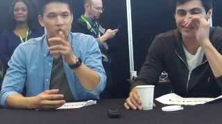 getlinkyoutube.com-Harry Shum Jr & Matthew Daddario from Shadowhunters at NYCC 2015