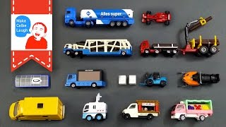 getlinkyoutube.com-Learning Special Street Vehicles Names and Sounds and more for kids with tomica 2015 siku lego