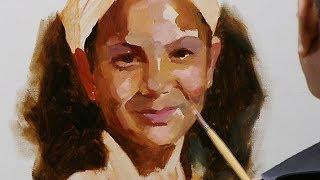 getlinkyoutube.com-How to paint a portrait in oil paint. Short summary.