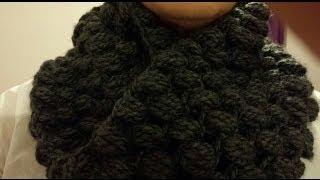 getlinkyoutube.com-Cuello circular a Crochet/ Punto Pouf (Subtitulado Español)