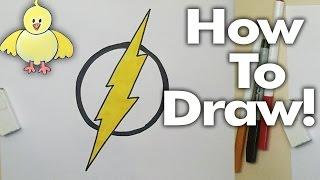 getlinkyoutube.com-How to Draw The Flash Logo Step by Step