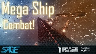 getlinkyoutube.com-Space Engineers, Mega Destroyer Combat