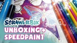 getlinkyoutube.com-SCRAWLRBOX Challenge ★ Wild Butterfly ★ UNBOXING + SPEEDPAINT
